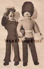 Vintage 1940s Knitting Pattern Toy Soldier/Guard & Sailor Dolls.