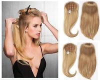 "NEW Machine weft cap Indian Remy Human Hair Glueless Half Wig 16"" 20"" 24"" 28"""