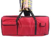 61-Key Keyboard Electric Piano Gig Bag Soft Case Dual Zipper 600D Red G9T8