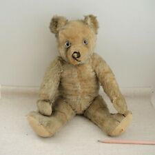 "Antique Steiff 18"" Teddy Bear Honey Mohair Glass Eyes Disc Jointed Vintage 1910s"
