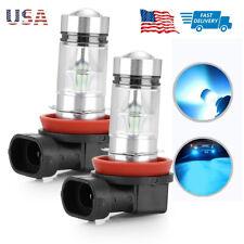 New listing 1 Pair H11 H8 Led 100W Fog Light Bulbs 8000K Ice Blue Headlight fit for Toyota
