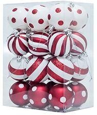Arbre de noël baubles décorations à pois de noël arbres (rouge et blanc)