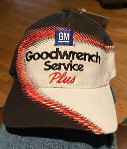 Vintage Goodwrench Service Plus Chase Authentics Black Strapback Hat Cap NASCAR