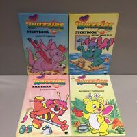 Wuzzles Set Of 4 Books Vintage 80s TV Kids Show GET IT FAST