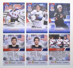 2020 BY cards IIHF U20 World Championship Team USA Pick a Player Card