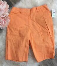 Studio Works Peach Bermuda Casual Walking Shorts Sz 8 Nwt