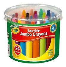Crayola My First Easy Grip 24 Jumbo Wax Crayons Made for Small Hands NEW 81-8104
