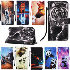 Patterned Flip Hybrid PU Leather Wallet Case Card S lot Strap Stand Book Cover