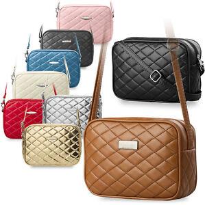 kleine Damentasche gesteppte Handtasche Umhängetasche Clutch -Tasche