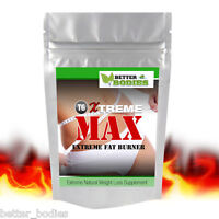 Xtreme MAX™ Strong Fat Burners Diet Weight Loss Strongest Slimming Pills Safe UK