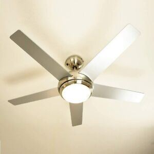 "AireRyder Fresco 44"" 5 Blade Remote Control Ceiling Fan Silver/Pine Blades A++"