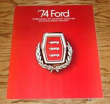 Original 1974 Ford Full Size Car Sales Brochure 74 LTD Galaxie Station Wagon