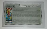 CUSTOM 1987 GI Joe Starduster Figure Mail Away Full Uncut Red Back File Card