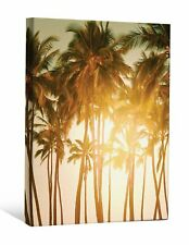 """Jp London Scnv2229 2"""" Thick Heavyweight Gallery Wrap Canvas, Palm Tree Row Sis."""