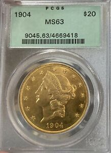 1904 OGH! PCGS MS63 $20 Liberty Gold Double Eagle