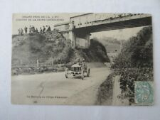 Early Postcard Darracq Racing Car Grand Prix Circuit de la Seine w/ Stamp
