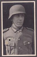 S-Super Foto 2.WK.Porträt Kamerad mit Stahlhelm