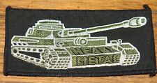HEAVY METAL TANK CIRCA 1980 VINTAGE EMBROIDERED WOVEN COLTH SEWING SEW ON PATCH