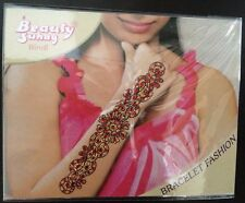 Red Gold Glitter Wrist Arm Bindi Tattoo Sticker Body Art Rhinestone 2 Wedding