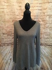 Motherhood Maternity Gray V Neck Fall Light Weight Sweater Size Large