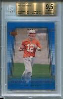 2000 Upper Deck Football #254 Tom Brady Rookie Card RC Graded BGS Gem Mint 9.5