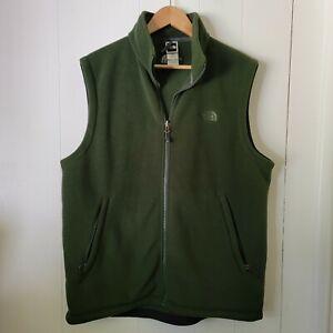 The North Face Mens Pine Dark Green Fleece Vest Jacket Size Large