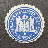 Koeniglich Preussische Regierung zu Stade Siegelmarke Vignette (8061-4)