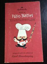 1965 Hallmark Book of Patio Parties Menus Recipes Games Decorations Outdoor Luau