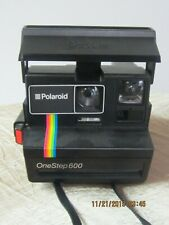 VINTAGE POLAROID ONE STEP 600 LAND CAMERA RAINBOW STRIPE GREAT CONDITION !!!