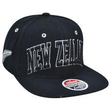Zephyr New Zealand Country Flag Super Star Adjustable Snap Back Black Hat Cap