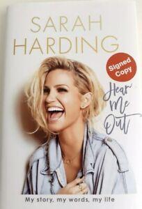SARAH HARDING - * SIGNED * HEAR ME OUT - MY STORY - HARDBACK BOOK girls aloud