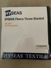 HYSEAS Fleece Throw Blanket Polyester Navy Blue New Soft