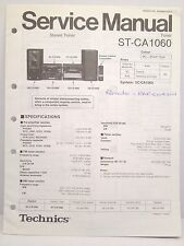 Technics Original Service Manual + Supplement Page ST-CA1060 Tuner