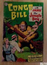 CONGO BILL 1954 #1 SOLID VG MINUS  TOUGH TO FIND!3 STORIES GOLDEN GORILLA