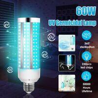 UV 60W Germicidal Lamp LED UVC Bulb E27 Household Disinfection Light Bulbs New