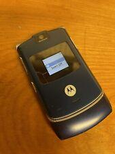 Motorola Razr V3 Blue Flip Phone. As Is See Photos Vintage!