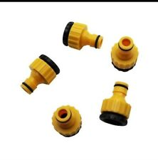 """1/2"""" 3/4"""" Screw On Threaded Tap End Connector Garden Hose Pipe Lock Adaptor ,"""