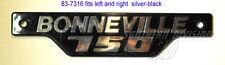 TRIUMPH 83-7316 BADGE Sidecover Bonneville 750 Black Chrome pagine emblema COPERCHIO