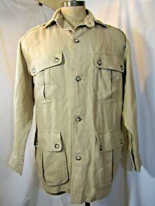 WILLIS & GEIGER 100% Linen Safari Jacket Size Large