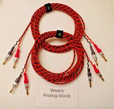 Belden 9497 15 ft Speaker Cables , For Vintage tube stereo with Legendary Tone!