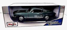 Maisto 1967 Ford Mustang GTA Fastback Metallic Green 1:18 Metal Die Cast NIB