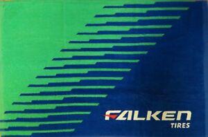 Falken Tires Logo Towel, Blue/Green, 100% Cotton, Size 27 in x 18 in, Brand New