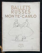 """DERAIN ANDRÉ  """"BALLETS RUSSES DE MONTE-CARLO"""" THÉATRE DES CHAMPS ÉLYSÉES 1932"""