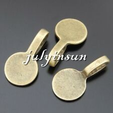 Antique Bronze Alloy Round Ring Board Pendants Charms Crafts Findings 40x 50508