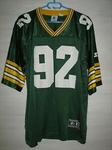 NFL VINTAGE # 92 REGGIE WHITE GREEN BAY PACKERS SHIRT JERSEY STARTER SIZE 48