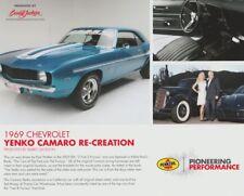 "2017 ""2 Fast 2 Furious"" '69 Yenko Camaro Shell SEMA Show Promo info card"