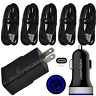 For Moto G6 Z3 Z2 Play Force Fast Cell Phone Charger Car&Wall Plug Type C Cable