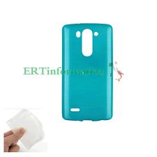 CUSTODIA MORBIDA ULTRA SLIM 0,3 mm COVER TPU LG G3 MINI D722 BLU TRASPARENTE +++