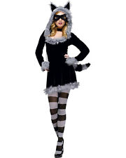 Racy Raccoon Women's Adult Halloween Costume Medium Large Size 10-14