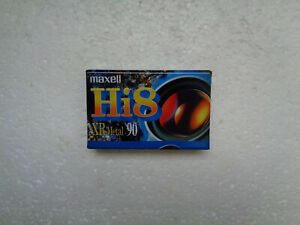 Cassette Vierge pour Camescope Hi8 MAXELL XR Metal 90 - Hi 8 Neuf